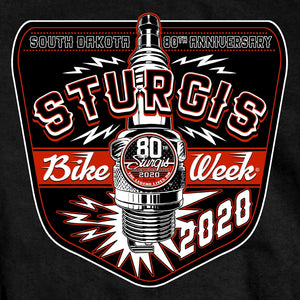 Official 2020 Sturgis Motorcycle Rally Vintage Spark T-Shirt