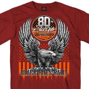Official 2020 Sturgis Motorcycle Rally Eagle Cardinal T-Shirt