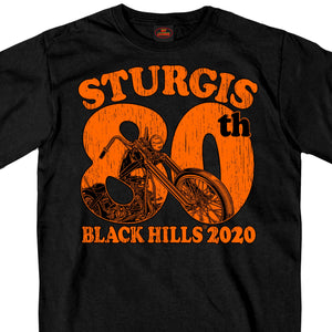 Sturgis 2020 Motorcycle Rally 80th Chopper T shirt
