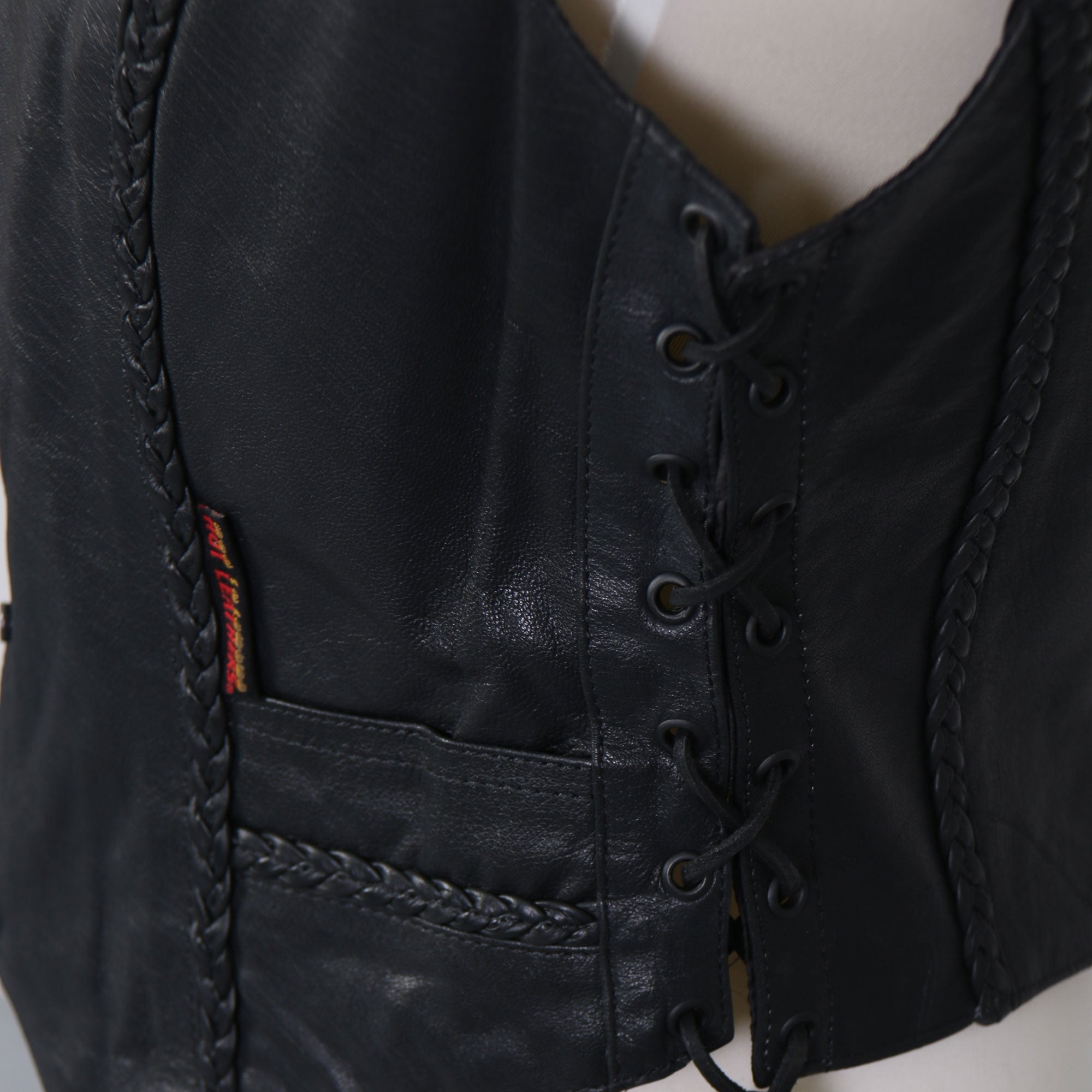 Hot Leathers Ladies Black Leather Vest