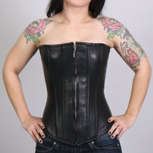 Hot Leathers Ladies Zip-Up Front Corset