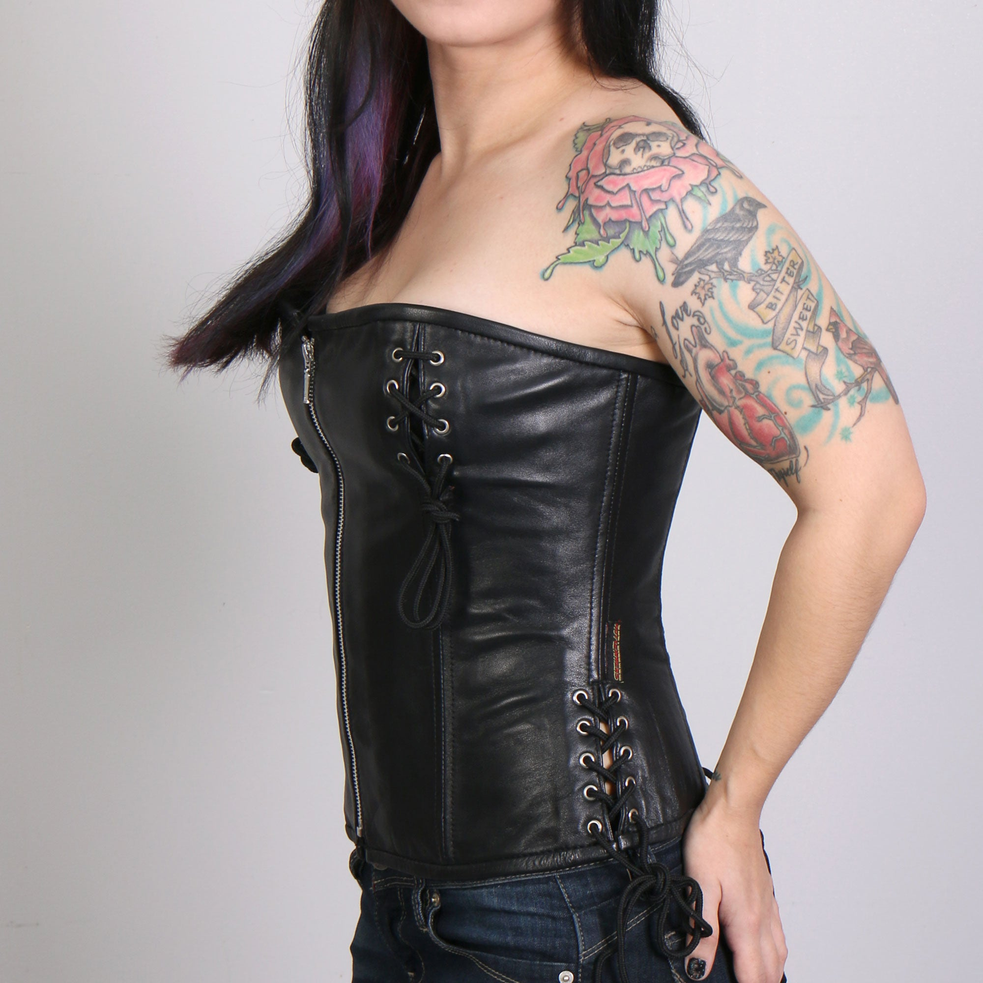 Hot Leathers Ladies Corset with Chest Laces