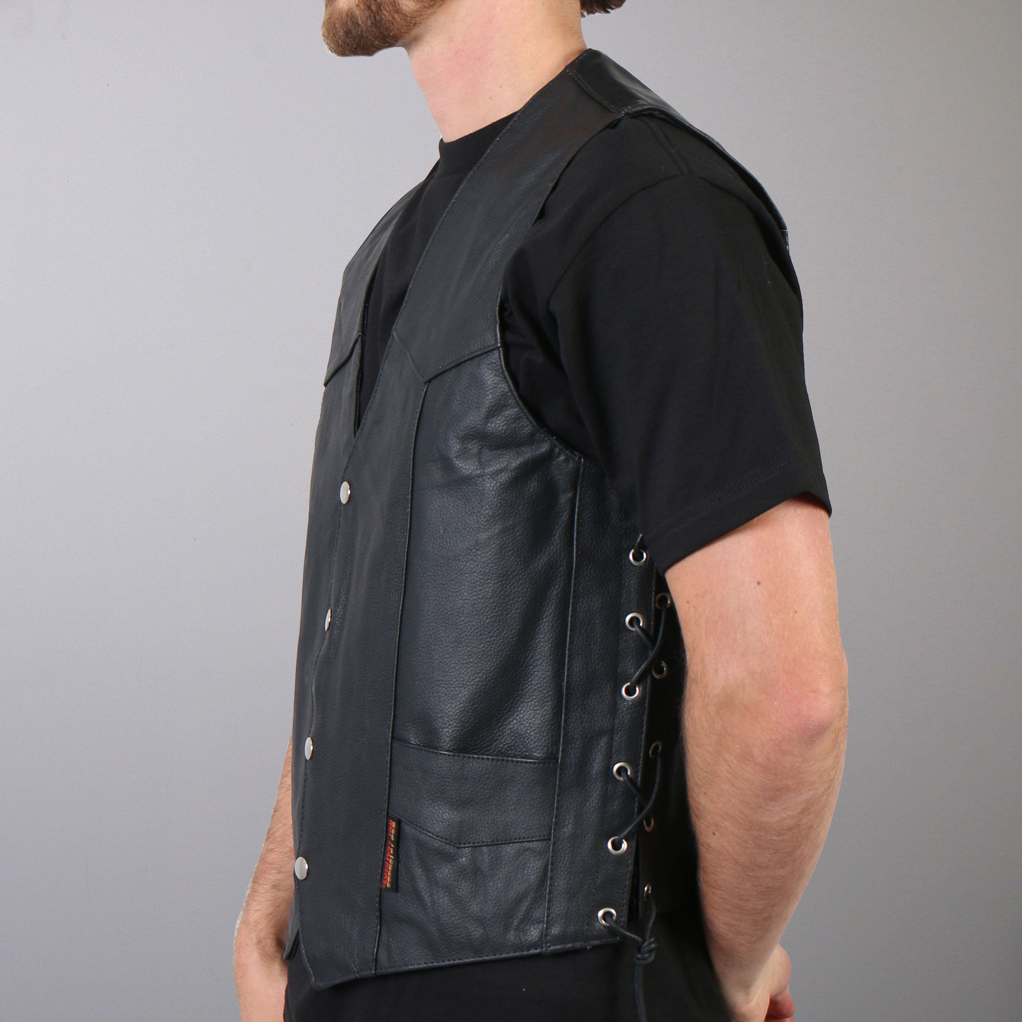 Hot Leathers Men's Concealed Carry Leather Vest