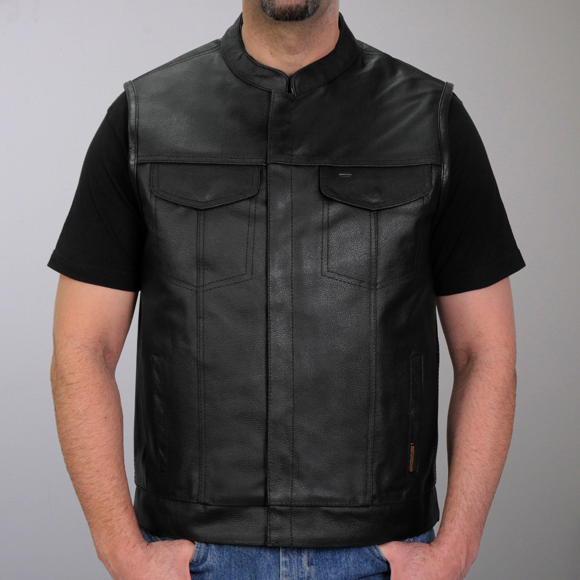 Hot Leathers Zip and Snap Club Style Vest