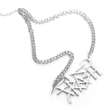 Load image into Gallery viewer, TRASH LOGO NECKLACE