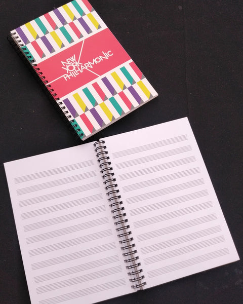 New York Philharmonic Spiral Notebook -Staff Paper