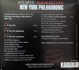 Kurt Masur at the New York Philharmonic, Volume 1