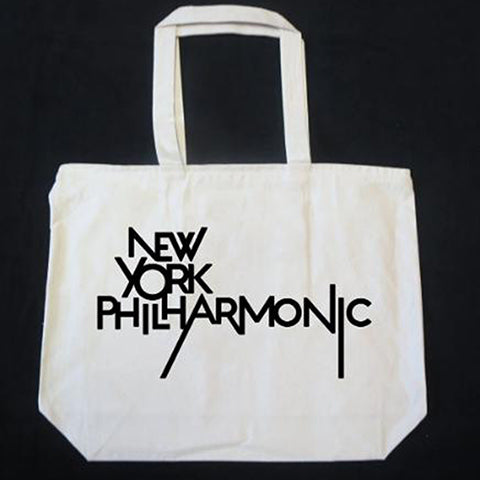 New York Philharmonic Beige Canvas Tote Bag