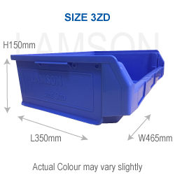 size 3zd plastic storage container