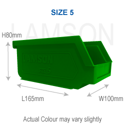 size 5 polypropylene storage container green