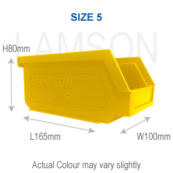 plastic storage bin size 5 yellow