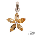 Citrine Marquise Shape 26x18mm Sterling Silver Pendant Jewelry