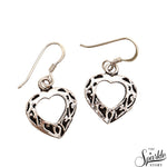 Heart Shape Sterling Silver Hook Earring