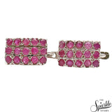 Ruby Sterling Silver Latch Back Earring