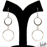 Plain Sterling Silver Long Dangle Hook Earring