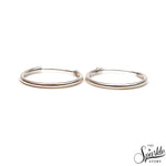 Plain Sterling Silver Women's Hoop Earrings 22mm