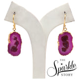 Druzy Gold Electroplated Earring For Women and Girls