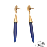Sapphire Gold Plated Finding Spike Earrings