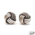 Sterling Silver Earrings Round Shape 12mm