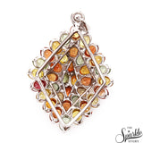 Multi Color Sterling Silver Pendant