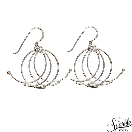 Plain Sterling Silver Twist Wire Dangle Hook Earring