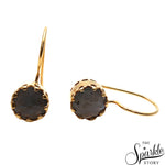 Labradorite Gold Plated Round Shape Dangle Earrings for Women and Girls