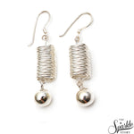 Plain Sterling Silver Springs long Hook Earring