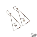 Plain Sterling Silver Dangle Hook Earring