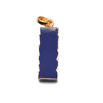 Dark Blue Chalcedony Gold Plated Pendant and Necklace for Women and Girls