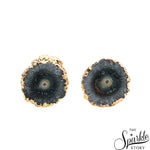 Druzy Stud Gold Plated Stud & Earring