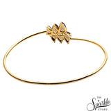 Smoky Topaz Artemis Adjustable Gold Plated Bangle (DGPST-19001)