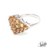 Citrine Gemstone Sterling Silver Round Shape Ring
