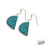 Turquoise Jasper 26x14mm Sterling Silver Hook Earring