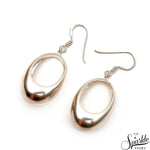 Plain Sterling Silver 26x16mm Dangle Hook Earring