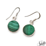 Malachite 17x13mm Sterling Silver Hook Earring