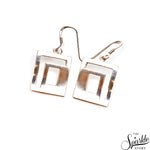 Plain Sterling Silver 23x17mm Dangle Hook Earring