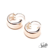 Plain Sterling Silver Baali Hoop Earrings