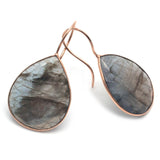 Beautiful Labradorite Gold Plated Hook Earring For Women and Grls
