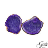 Druzy Gold Electroplated Stud Earring For Women and Girls