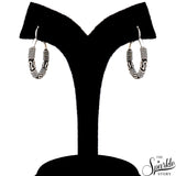 Hinged Vintage Wire Wrapped Baali Oxidized Sterling Silver Hoop Earrings