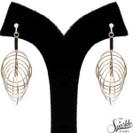 Plain Sterling Silver Twist Hoop Dangle Hook Earring