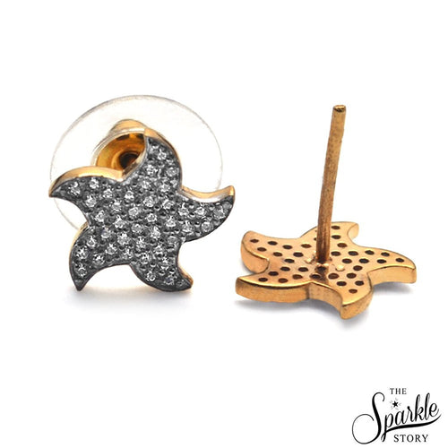 The Sparkle Story CZ Charm Star Shape Stud Earring (DCHER-90001)