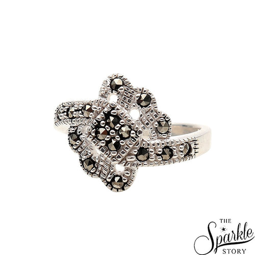 The Sparkle Story Pyrite Sterling Silver Ring (DSS-12041)