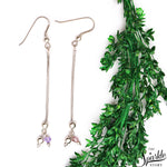 Sterling Silver Statement Wire Hook Earring