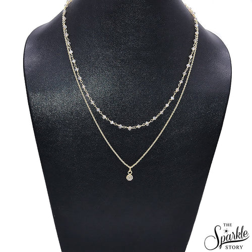 The Sparkle Story Labradorite Gold Plated Necklace Chain With Charm (DGPLB-16024)