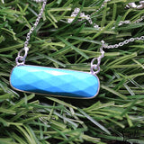 The Sparkle Story Turquoise Silver Plated Necklace Chain Pendant