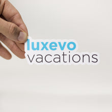 Load image into Gallery viewer, Luxevo Vacations Logo Sticker