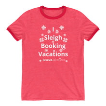 Load image into Gallery viewer, Sleigh Vacations Ringer T-Shirt