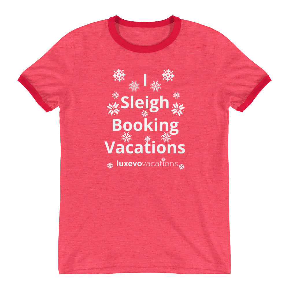 Sleigh Vacations Ringer T-Shirt