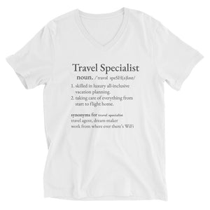 Travel Specialist Unisex V-Neck
